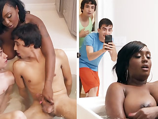 Black stepmom property double-teamed by her stepsons
