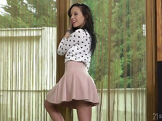 Svelte and quite leggy whorish nympho Lexi Layo is analfucked doggy hard