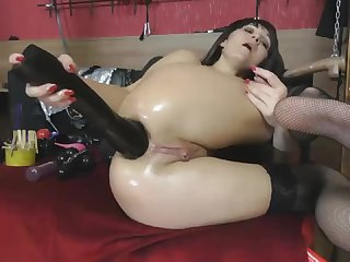 Insane Drenched Ass Fisting - Watch in 4K HD