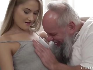 Nubile ultra-cutie vs elder grandfather - Tiffany Tatum and Albert