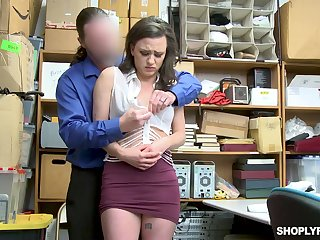 Suspected chick Alex More gets analfucked by dirty policewoman on make an issue of table