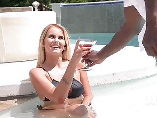 Aisha Poolside Interracial Massage!!!