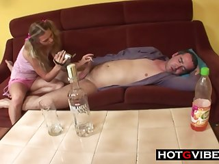 Daughter Takes Advantage Of Drunk Dad - 18yo