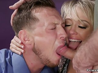 Huge breast wife breech fucking bangs husband 3some