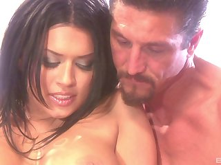 Sexy Eva Angelina gets fucked by a stiff penis while she moans