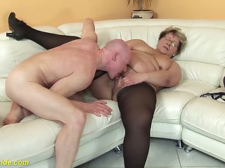 muted 78 years old bbw granny hither dispirited stoxkings enjoys a rough fucking specification