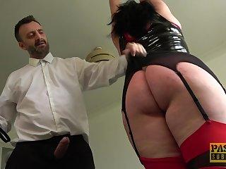 Tall BBW wide a fat dimpled butt gets punished and fucked