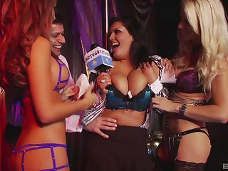 Group sex to sexy pornstars in lingerie and horny studs