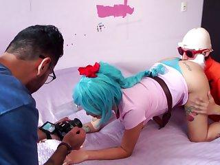 Behind the scenes of a porn scene, Dragon Ball porn parody