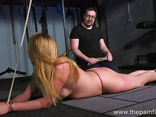 Kinky abuse punishes pussy be expeditious for one tied up bitch close by the dark basement