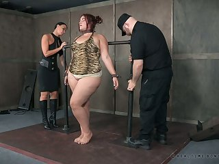 This erotic BBW less a obese ass is completely helpless to her master's plans