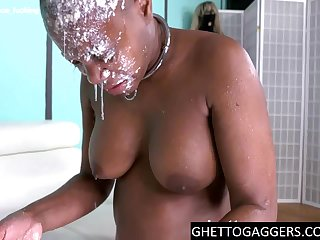 Face dunked mainly her hoist & anal gape