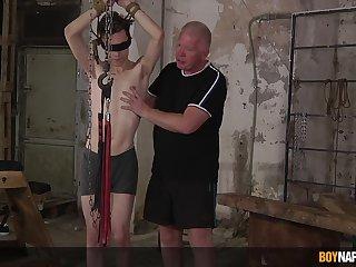 Sebastian Kane and Nathan Reyes delve into an blue bondage motion