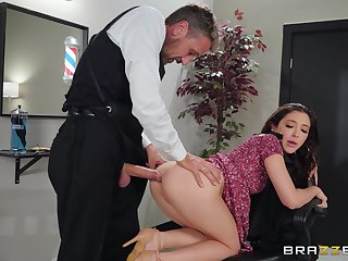 Gorgeous brunette Jane Wilde's sexy ass pounded hardcore