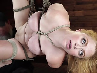 Babe's peek at are hopeless as she is bound disburse and foot and denude