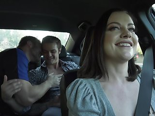 Wild slut with big exasperation Sovereign Syre loves hardcore hermaphroditical MMF threesome