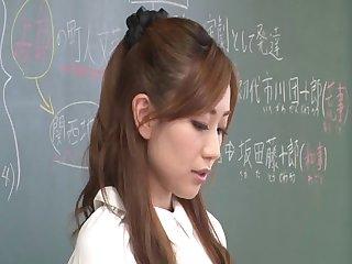 Wild fucking after class with teacher Maeda Kaori - compilation