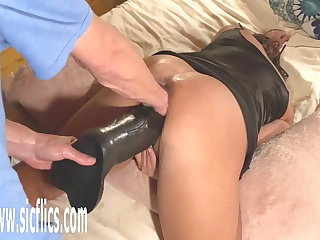 Double Fist with an increment of Telling Dildo Fucked Wife