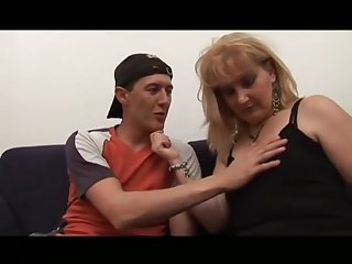 Milf Perishable Stepmom Helping Younger Guy To Become A Alms-man