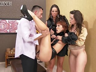 Three Butts Ready Be proper of Cum Saddle with - Kinky Sex