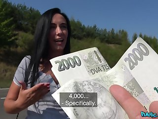 Sex for finances leads the young brunette close by insane scenes