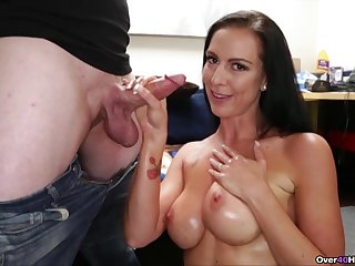 Dispirited ass mature woman is impressed by son's big dick