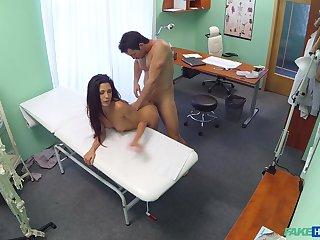 Hidden cam sex between a muscular doctor and a hot patient