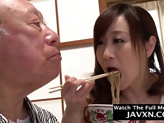 Japanese Coddle Helps Widely Grandpa
