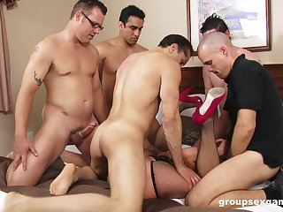 Intense group sex anent one's get hitched