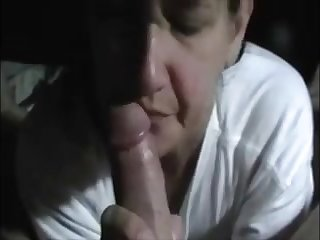 Horny milf suck dick and express regrets him cum with her hand