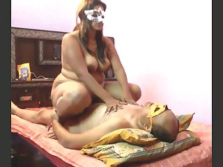 Obese big breasted whore in mask is so into riding strong cock