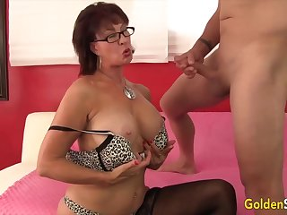 Horny old women taking hard dicks with their mouth and hack staggering blowjobs