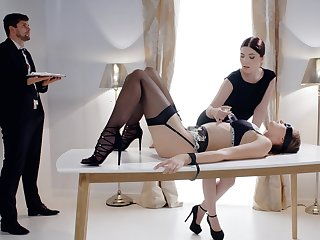Smashing ladies are working very naughty in a kinky fetish game