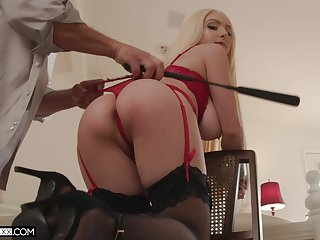 Ass whipped and tied up during sex be advantageous to a rank maledom