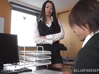 Nice fucking on the sofa with big tits secretary Nachi Kurosawa