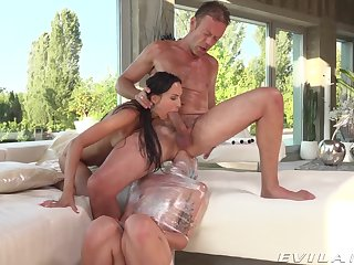 Selfish sluts try anal with the same lover