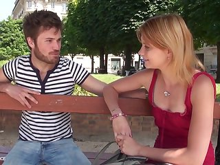 1st time audition sofa of a pretty youthfull petite breasted parisian gal getting